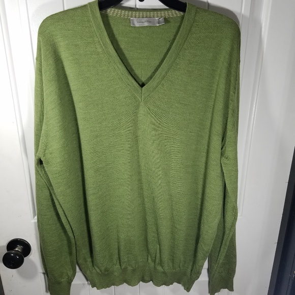 Ermenegildo Zegna Other - Ermenegildo Zegna Green Mens V-neck Wool Sweater